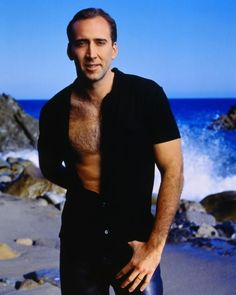 18 Actors Who Have Posed For Seriously Cheesy Photos With Their Chest Exposed Nicolas Cage Nicolas Cage, Lisa Marie Presley, Patricia Arquette, Long Beach, Viejo Hollywood, Capricorn Man, Famous Faces, Hollywood Stars, Gorgeous Men
