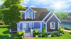 Lana CC Finds - lilsimsie: New Huntley house! - Waterside Cottage...