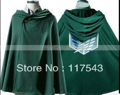 Aliexpress.com : Buy #Attack On Titan cloak Attack On Titan cloak Attack on Titan Survey Corps Cloak Eren Mikasa Levi Cosplay Costume from Reliable Attack on Titan suppliers on Hand Painted Shoes, Cosplay Costumes Online Store! $35.86