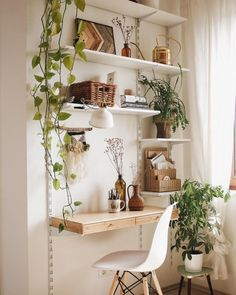 Living Room Decoration and Design Ideas - Ribbons & Stars Home Office Design, Home Office Decor, Room Ideas Bedroom, Bedroom Decor, Desk Inspiration, My New Room, House Rooms, Interior Design, Ikea Wall