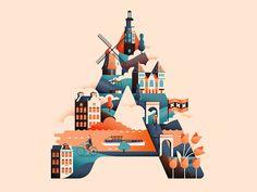 Wanderlust Alphabet by Jack Daly #Design Popular #Dribbble #shots