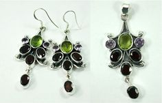 Awesome sterling silver earrings and Pendant with precious stones for only $ 51.00 mail us at nirwan.exports@gmail.com