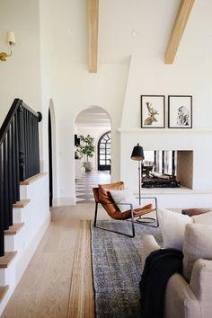 Dream Home Design, Home Interior Design, House Design, Home Living Room, Living Room Decor, Living Spaces, Piece A Vivre, Home Decor Inspiration, Decor Ideas