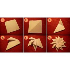 How to Make Origami Star Flower Thank You Cards Origami Design, Diy Origami, How To Make Origami, Origami Stars, Origami Paper, Folded Paper Stars, Origami Lotus Flower, Pearl Crafts, Star Flower