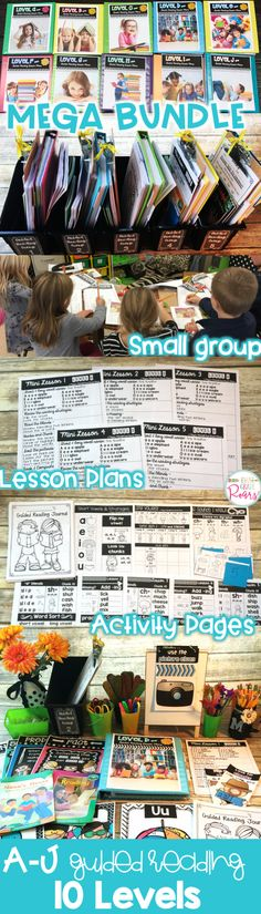 Guided Reading MEGA BUNDLE Levels A-J Lesson Plans & Activities for Small Group