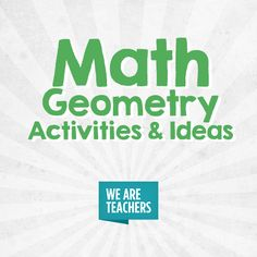 Geometry Activities, We Are Teachers, Area And Perimeter, Teaching, Math, Ideas, Math Resources, Education, Thoughts