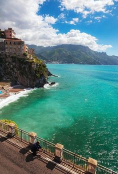 A view across the Amalfi Coast as seen from Atrani, Italy by lucy
