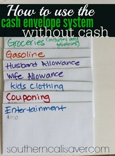 How to use cash envelope system without cash