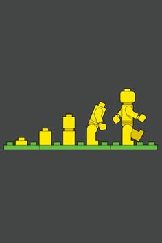 This is basically a recreation of Darwin's theory on evolution, it slowly begins to form a walking and fully functional lego man.