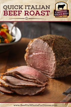 Quick Italian Beef Roast & Vegetables recipe provided by the Certified Angus Beef® brand. Best Roast Beef Recipe, Best Beef Recipes, Roast Recipes, Diabetic Recipes, Lean Recipes, Dinner Recipes, Venison Recipes, Rib Recipes, Whole30 Recipes