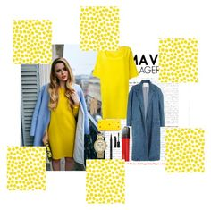"""""""Yellow"""" by michdancelove11 ❤ liked on Polyvore featuring P.A.R.O.S.H., Sandy Liang, Yves Saint Laurent, L'Oréal Paris, Bobbi Brown Cosmetics, Michael Kors, Capwell + Co and Jennifer Paganelli"""