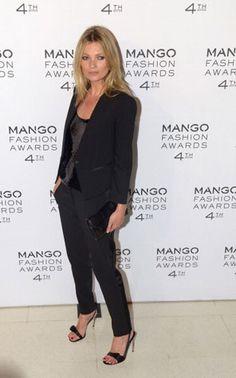Kate Moss veste Mango em evento da marca em Barcelona – Modelos e Celebridades – MODASPOT