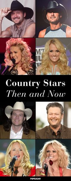 Remember what Carrie Underwood and Blake Shelton looked like back in the day? In honor of the CMT Music Awards this week, we've compiled the ultimate Country Western Singers, Country Musicians, Country Music Artists, Country Music Quotes, Country Music Stars, Country Songs, Country Videos, Cmt Music Awards, Celebrities Then And Now