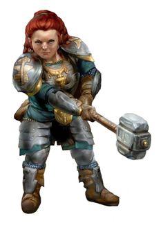 D&D 5th Edition Dwarf character (artist?)