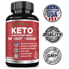 Keto Weight Loss Diet Pills : Rapid Fat Burner, Metabolism and Energy Ketosis Diet Pills for Men and Women - All Natural Gluten/Sugar Free Supplements with Raspberry Ketones - 60 Veggie Capsules Ketosis Supplements, Ketosis Diet, Ketogenic Diet, Easy Diet Plan, Healthy Diet Plans, Best Detox Program, Fruit Diet Plan, Keto Pills, Weight Loss Workout Plan