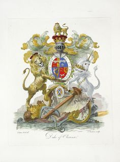 Arms of the Duke of Clarence, English Peerage, Charles Catton, 1790.