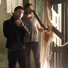 Jensen and Jared ||| Supernatural Season 9 Promo Behind the Scenes