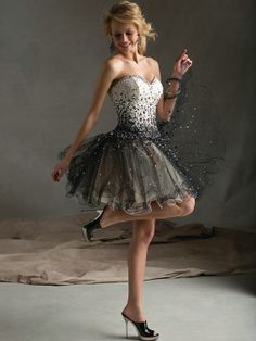 Ball Gown Homecoming Dress Sweetheart Short Tulle by VILAVIDresses, $118.99