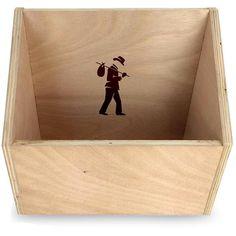 Flea Market Slanted Plywood Vinyl Record Storage Box