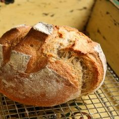 the version of 5 minute artisan bread! french boule bread This is it! the version of 5 minute artisan bread! French Boule Bread Recipe, Bread Recipes, Cooking Recipes, Rustic Bread, Our Daily Bread, Bread And Pastries, French Pastries, Artisan Bread, Bread Rolls