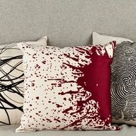 Forensic Pillows  love these! #horror #blood #goth #science #home #decor