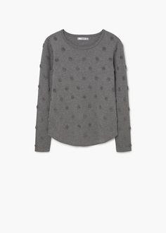 Embossed polka-dot sweater | MANGO