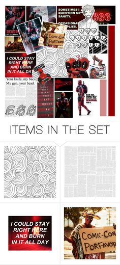 """""""600 subscribers!"""" by marvel-mockingjay ❤ liked on Polyvore featuring art and deadpool"""