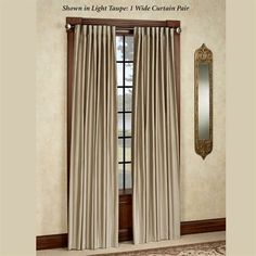 Ming Faux Silk Back Tab Wide Curtains