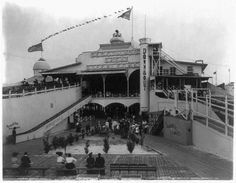 Entrance to Steeplechase Park at Coney Island, Brooklyn, New York, circa 1910's.