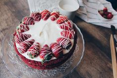 Red Velvet cake with cream cheese frosting! – The Hot Mess
