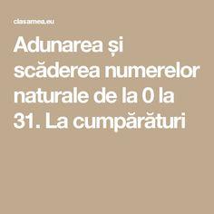 Adunarea și scăderea numerelor naturale de la 0 la 31. La cumpărături Math, Math Resources, Mathematics