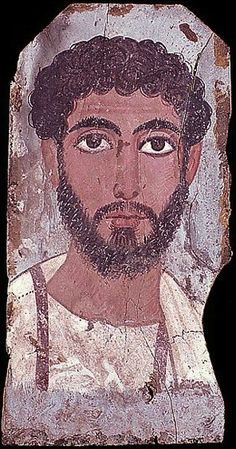 Mummy portrait of a man, Egypt, Roman period (Pelizaeus-Museum, Hildesheim)