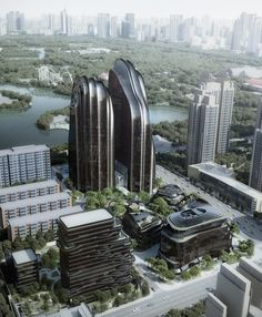 chaoyang park plaza by MAD architects breaks ground