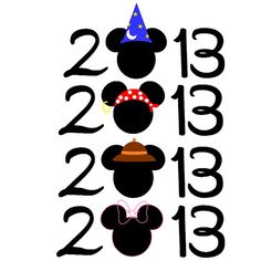Custom Personalized 2013 Mickey / Minnie Iron on Transfer Decal(iron on transfer, not digital download)