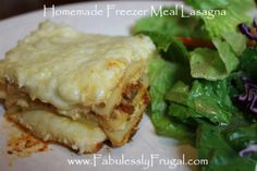 freezer meal lasagna
