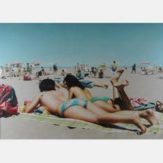 Hilo Chen, photorealist beach scene, oil on canvas Chen, Art Optical, Realistic Paintings, Art Paintings, Chinese American, Beach Scenes, Museum Collection, Figure Painting, American Artists