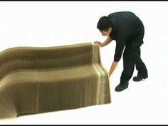 Slinky Chair: Made From Recycled Cardboard -- Pure awesomeness! Can seat up to 16 people.