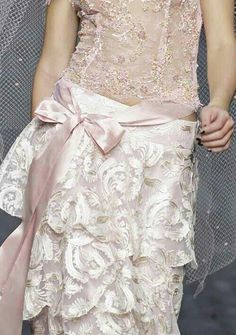 Lace accented gown #wedding #lace