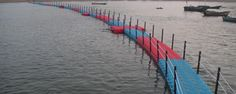 Our blocks can be used to construct walkways and bridges to transport people and even vehicles over water. Temporary Pontoon bridges can be easily installed at lower costs on lakes, harbors, rivers, canals, etc. for public and private use. Note: Image used for reference only
