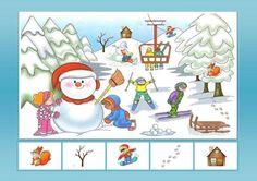 Winter Activities For Kids, Toddler Activities, Crafts For Kids, Preschool Decor, I Spy Games, Hidden Pictures, Hidden Objects, Speech Language Therapy, Winter Kids