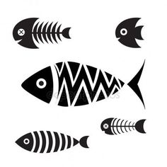 Set of icons of fish vector image on VectorStock Icon Set, Vogel Silhouette, Fish Icon, Fish Graphic, Pottery Painting Designs, Fish Vector, Printable Designs, Fish Art, Vinyl Crafts