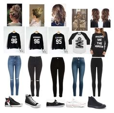 """""""Squad~Casual school day :p"""" by leahpop-376 ❤ liked on Polyvore featuring Topshop, River Island, DKNY, Converse and Vans"""