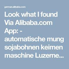 Look what I found Via Alibaba.com App: - automatische mung sojabohnen keimen maschine Luzerne sojabohnensprosse maschine herstellt für erdnuss Quinoa weizen