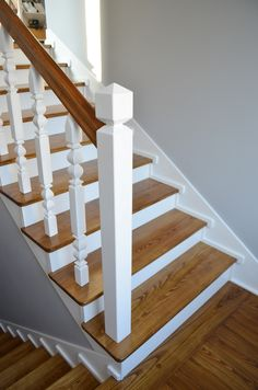 Non Slip Finish for Wood Stairs . Non Slip Finish for Wood Stairs . Stair Cladding Can Pletely Transform and Old Staircase Stair Spindles Wood, Hardwood Stair Treads, Outdoor Stair Railing, Staircase Handrail, Oak Stairs, Metal Stairs, Wooden Staircases, Painted Stairs, Wooden Stairs