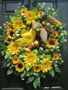 Summer Wreath, Summer Wreaths for Front Door, Summer Door Wreaths, Front Door…