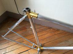 Vélo Cadre Ancien DURAVIA METAL AVIATION Frame 1940 Old French Bike DURAL VGC