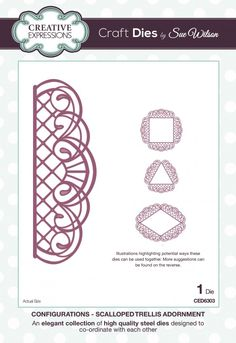 The Configurations Collection - Scalloped Trellis Adornment