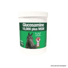Natural Animal Feeds Glucosamine 10 000 Plus with MSM Glucosamine in combination with MSM for the everyday maintenance of healthy joints tendons and cartilage.