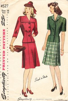 1940s TwoPiece Dress or Suit for Misses and by daisyepochvintage, $14.00