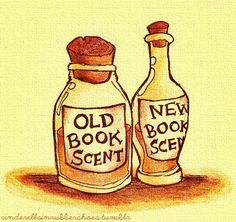 old book scent, new book scent